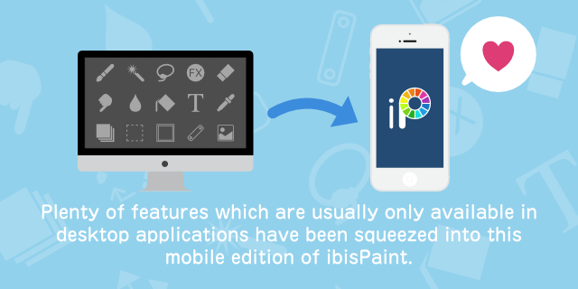 install ibispaint and turn any place into your best atelier at any time