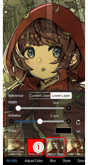 ibisPaint手机怎么学插画之过滤器: 彩色玻璃—手机绘画73