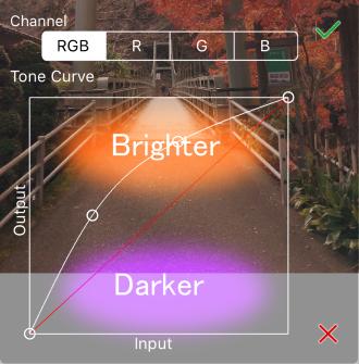 ibisPaint手机原画教程之过滤器: 色调曲线—手机绘画58